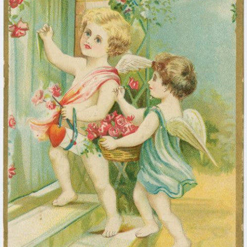 "Digital Download ""Love's Greeting"" Valentine's Day Postcard (c.1906) - Instant Download Printable - thirdshift"