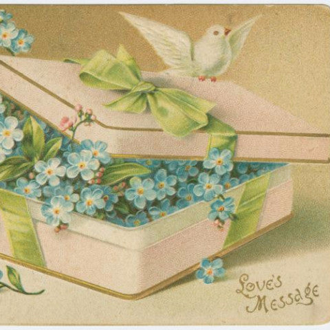 "Digital Download ""Love's Message"" Valentine's Day Postcard (c.1906) - Instant Download Printable - ThirdShiftVintage.com"