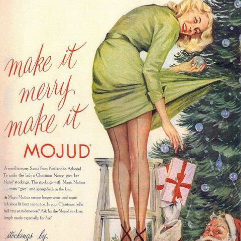 "Digital Download ""Mojud Stockings Christmas Ad"" (c.1950s) - Instant Download Printable"