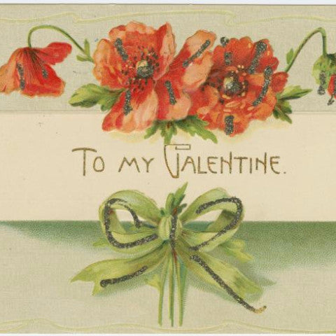 "Digital Download ""To My Valentine"" Valentine's Day Postcard (c.1907) - Instant Download Printable - ThirdShiftVintage.com"
