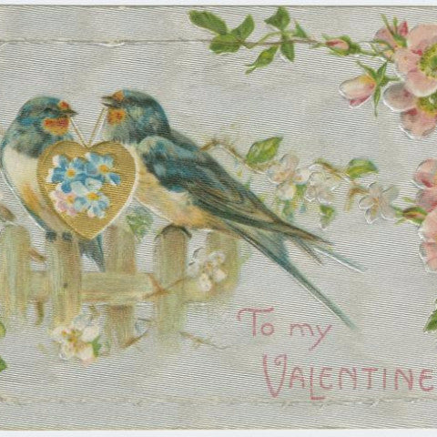 "Digital Download ""To My Valentine"" Valentine's Day Postcard (c.1909) - Instant Download Printable - ThirdShiftVintage.com"