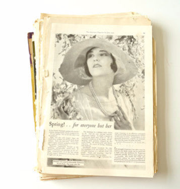 Vintage Magazine Ads Ephemera Pack of 130 Pages (c.1930s) - ThirdShiftVintage.com