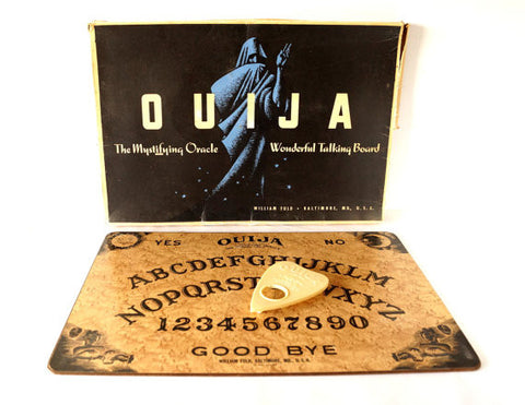 Vintage Original Ouija Board by William Fuld, Extra Large (c.1930-40s) - ThirdShiftVintage.com
