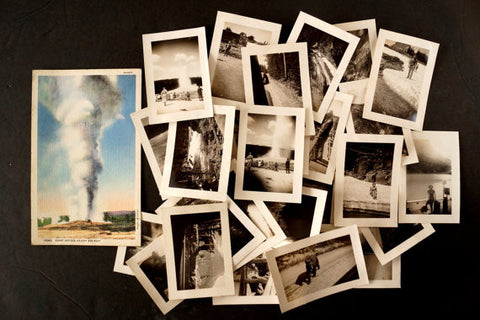Vintage Photograph Collection from Yellowstone National Park, Set of 30 (c.1920s) - ThirdShiftVintage.com