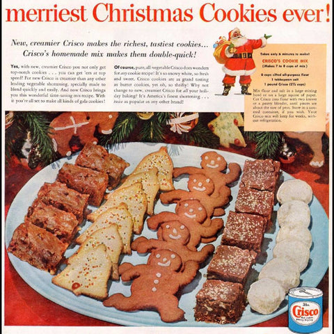 "Digital Download ""Crisco's Christmas Cookie Ad"" (c.1952) - Instant Download Printable"