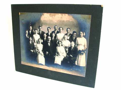 Antique Studio Photograph of Students with Teacher (c.1910s), N1 - ThirdShift Vintage