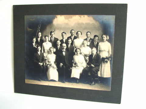 Antique Studio Photograph of Students with Teacher (c.1910s), N2 - ThirdShiftVintage.com