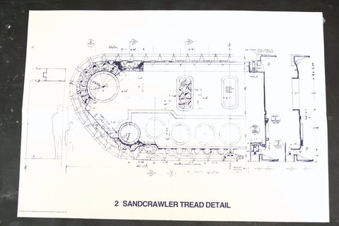 Vintage Star Wars Blueprint for Sandcrawler Tread Detail (c.1977) N2 - ThirdShiftVintage.com