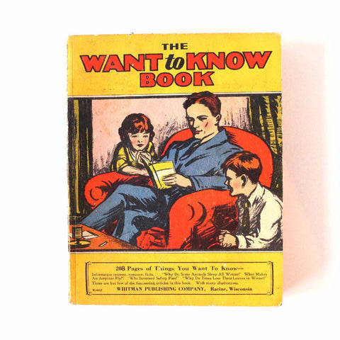 "Vintage ""The Want to Know Book"" (c.1929) - ThirdShift Vintage"