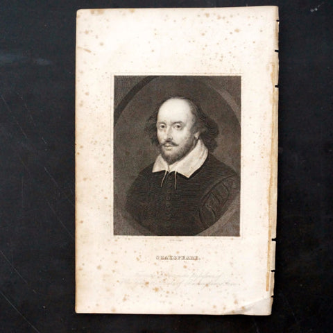 Vintage Engraving of William Shakespeare (c.1835) - ThirdShiftVintage.com