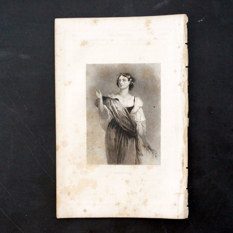 "Vintage Engraving of Perdita from Shakespeare's ""The Winter's Tale"" (c.1835) - ThirdShiftVintage.com"