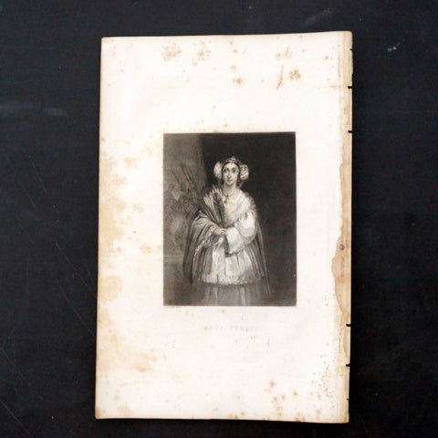 "Vintage Engraving of Lady Percy from Shakespeare's ""King Henry VI"" (c.1835) - ThirdShiftVintage.com"