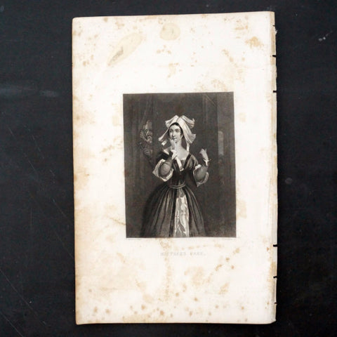 "Vintage Engraving Mistress Page Shakespeare's ""Merry Wives Windsor"" (c.1835) - ThirdShiftVintage.com"