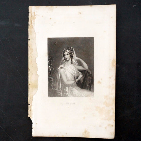 "Vintage Engraving of Helen, Shakespeare's ""A Midsummer Night's Dream"" (c.1835) - ThirdShiftVintage.com"