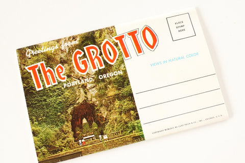 Vintage Post Card Souvenir Booklet of The Grotto, Portland Oregon (c.1963) - thirdshift