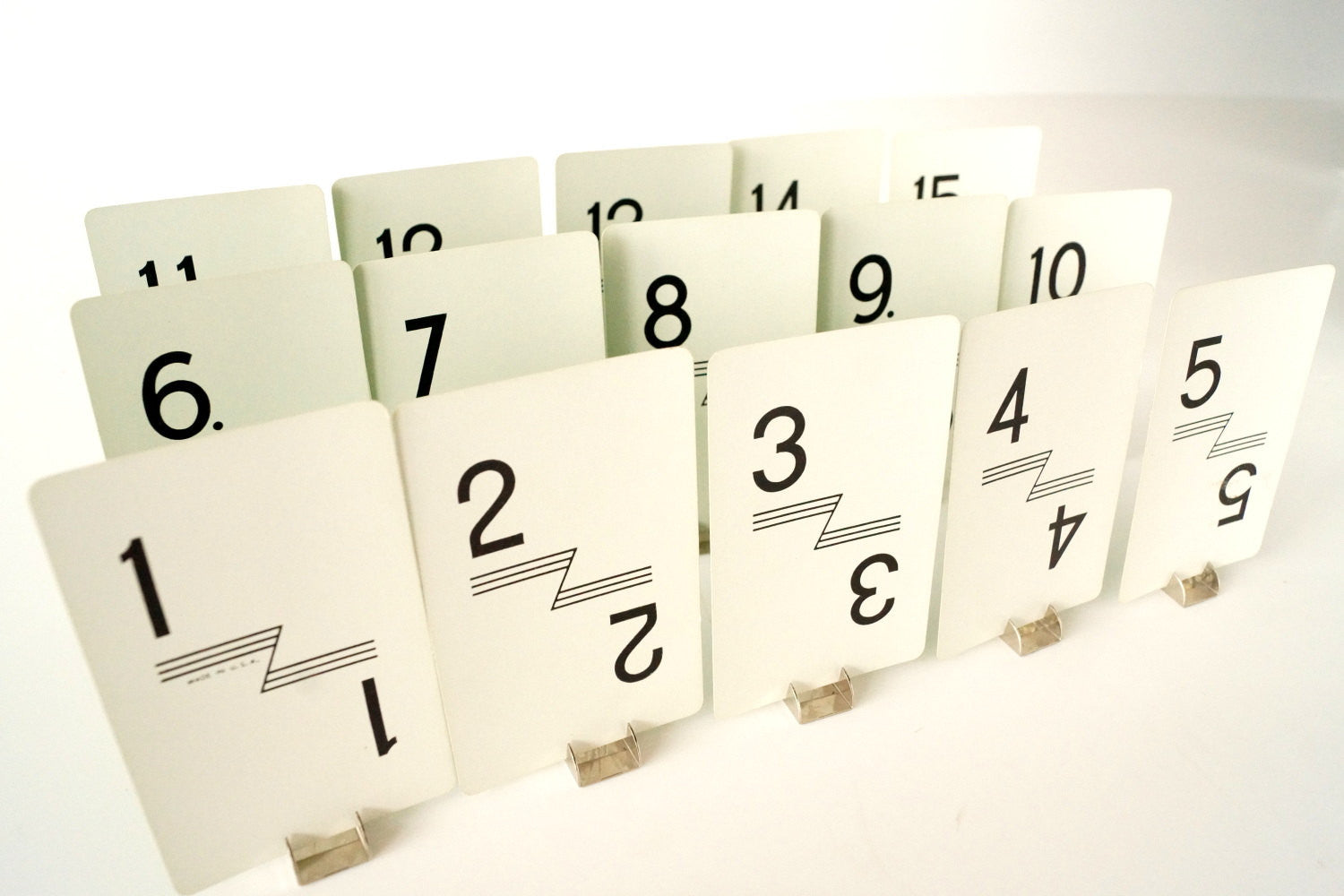 Vintage Number Cards Table Number Cards With Art Deco Line