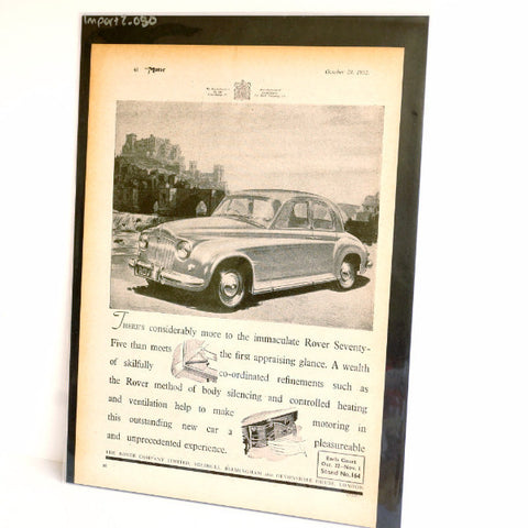 Vintage Rover Seventy Five 75 British Car Original Print Ad, Period Paper (1952)