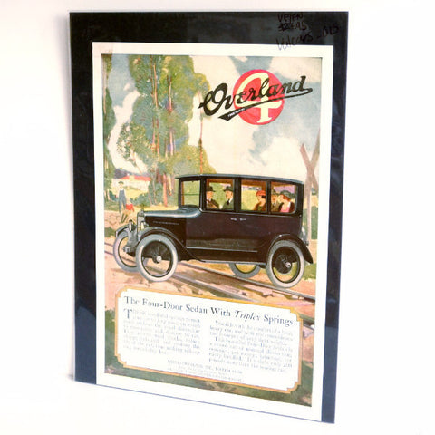 Vintage Willys-Overland Four-Door Sedan Original Print Ad, Period Paper (1920s)