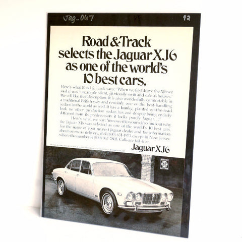 Vintage Jaguar XJ6 Jag British Leyland Sedan Original Print Ad, Period Paper (1972) - thirdshift
