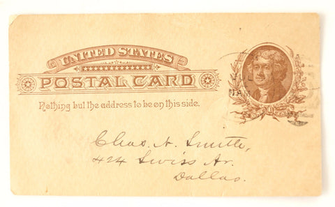 Vintage Post Card Grand Lodge of Texas Freemason Dues (July 17, 1886) - ThirdShift Vintage