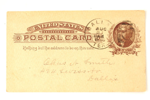 Vintage Post Card Grand Lodge of Texas Freemason Dues (August 28, 1886) - thirdshift