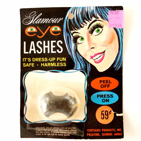 Vintage Glamour Eye Lashes Halloween Costume Collectible in Package (c.1970s) - ThirdShiftVintage.com