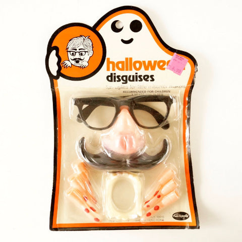 Vintage Halloween Disguises, Costume Collectible in Original Package (c.1970s) - thirdshift