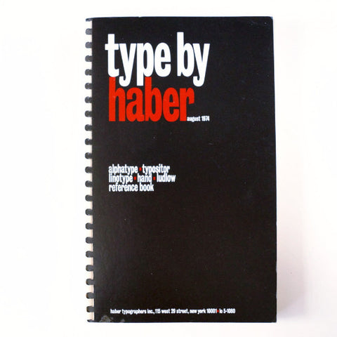 "Vintage ""Type by Haber"" Book (c.1974) - ThirdShift Vintage"
