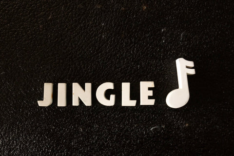 "Vintage White Ceramic Push Pins ""JINGLE"" (c.1940s) - ThirdShiftVintage.com"