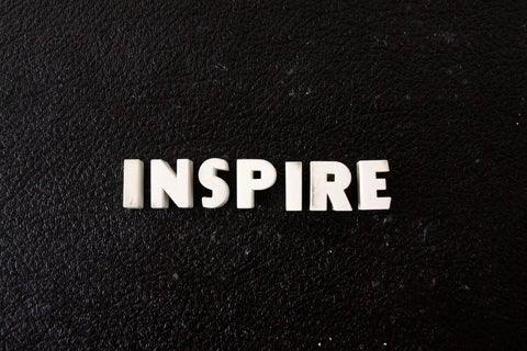 "Vintage White Ceramic Push Pins ""INSPIRE"" (c.1940s) - thirdshift"
