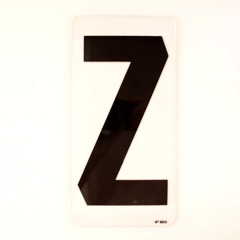 "Vintage Industrial Marquee Sign Letter ""Z"", Black on Clear Acrylic, 10"" tall (c.1970s) - ThirdShift Vintage"