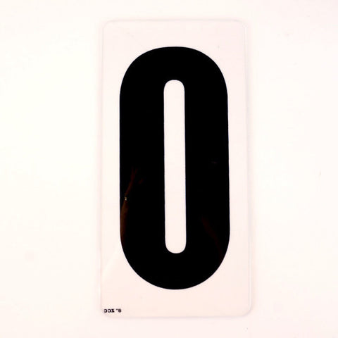 "Vintage Industrial Marquee Sign Letter ""O"", Black on Clear Acrylic, 10"" tall (c.1970s) - ThirdShiftVintage.com"