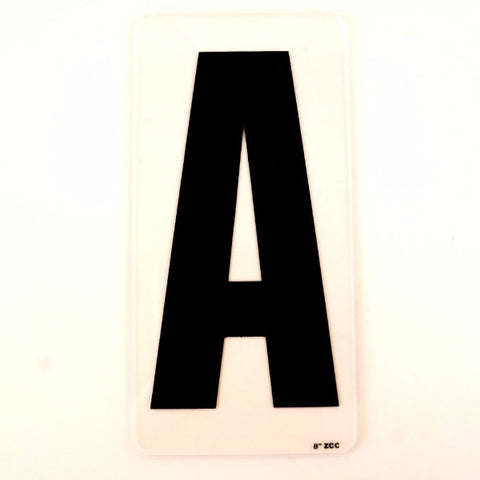 "Vintage Industrial Marquee Sign Letter ""A"", Black on Clear Acrylic, 10"" tall (c.1970s) - thirdshift"