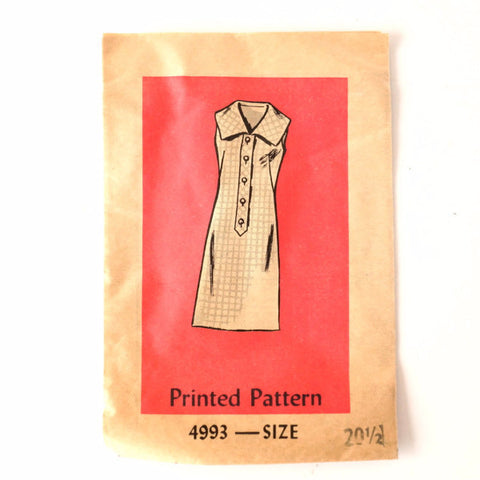 Vintage Ladies' Sleeveless Dress by Anne Adams Pattern 4993, Size 20-1/2 (c.1960s) - ThirdShiftVintage.com