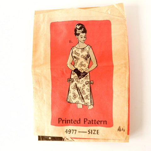 Vintage Ladies' Sleeveless Dress by Anne Adams Pattern 4977, Size 44 (c.1960s) - ThirdShiftVintage.com