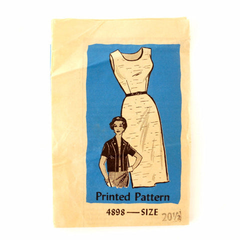 Vintage Women's Dress & Summer Jacket Mail Order Pattern 4898 Size 20-1/2 (c.1950s)