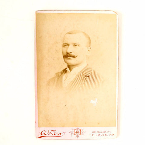 Antique Photograph Cabinet Card of Man from St. Louis Missouri (c.1893) - ThirdShift Vintage