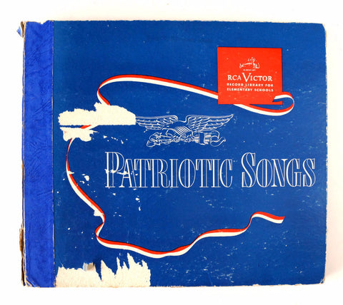 Vintage Patriotic Songs RCA Victor Record Library for Elementary Schools (c.1947) - ThirdShift Vintage