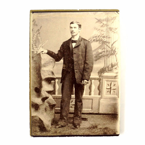 Antique Photograph Cabinet Card of Standing Man (c.1870s) - ThirdShift Vintage