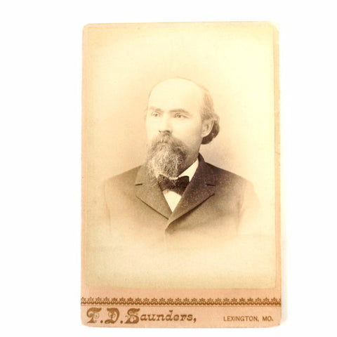 Antique Photograph Cabinet Card of Man from Missouri (c.1880s) - ThirdShift Vintage
