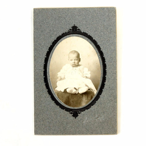Antique Photograph Cabinet Card of Baby (c.1880s) - ThirdShiftVintage.com