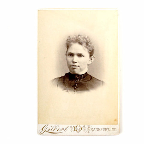 Antique Photograph Cabinet Card of Young Woman from Indiana (c.1880s) - ThirdShift Vintage