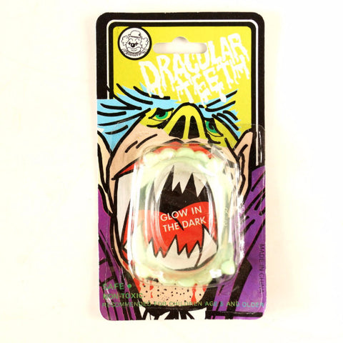 Vintage Halloween Dracular Teeth Collectible in Original Package (c.1980s) - ThirdShiftVintage.com