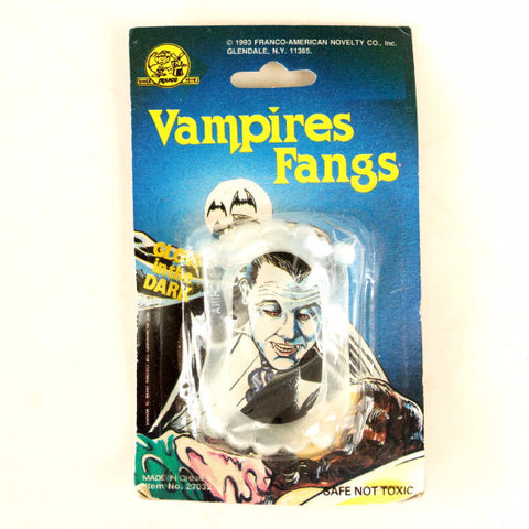 Vintage Halloween Vampires Fangs Collectible by Franco Novelty (c.1990s) - ThirdShiftVintage.com