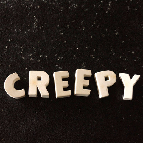 "Vintage White Ceramic Push Pins ""CREEPY"" (c.1940s) - ThirdShift Vintage"