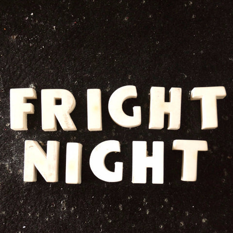"Vintage White Ceramic Push Pins ""FRIGHT NIGHT"" (c.1940s) - thirdshift"