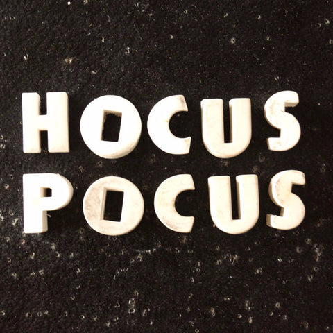 "Vintage White Ceramic Push Pins ""HOCUS POCUS"" (c.1940s) - thirdshift"