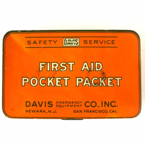 Vintage First Aid Pocket Packet Kit, Complete in Original Tin (c.1920s) - thirdshift