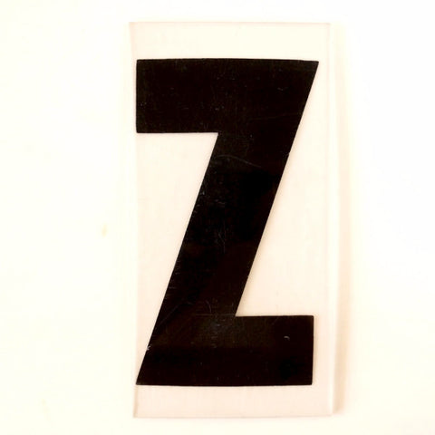 "Vintage Industrial Marquee Sign Letter ""Z"", Black on Clear Thick Acrylic, 7"" tall (c.1970s) - ThirdShift Vintage"