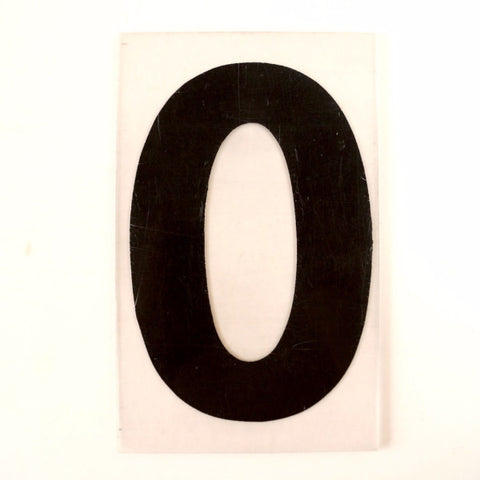"Vintage Industrial Marquee Sign Letter ""O"", Black on Clear Thick Acrylic, 7"" tall (c.1970s) - thirdshift"